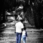 yassin and his dad walking