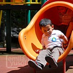yassin at the playground