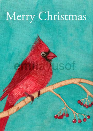 cardinal - merry christmas
