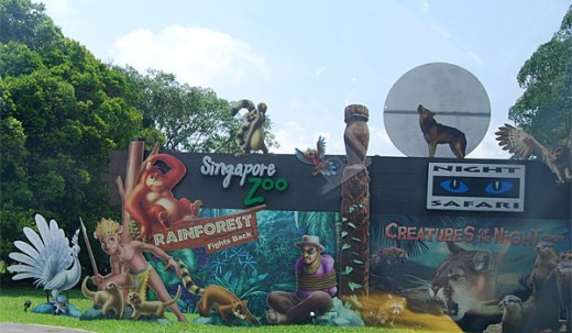 signboards to the zoo and night safari