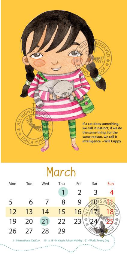 sample layout for 2012 calendar