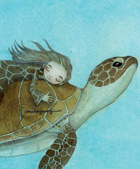 a turtle and it's guardian, Tuti