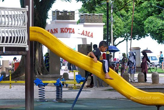 Yassin at the playground