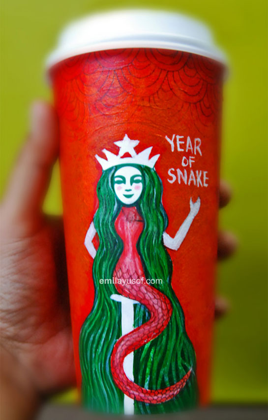 Starbucks papercup art