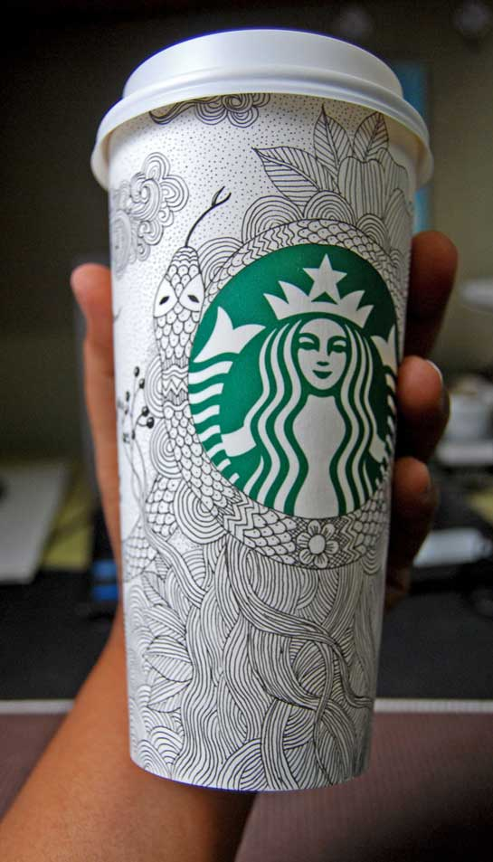 Starbucks papercup art