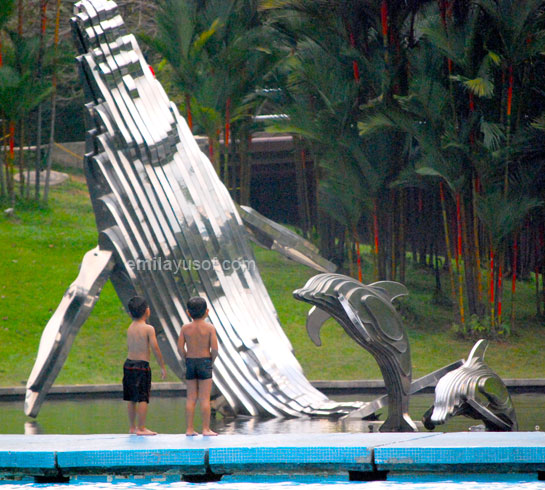 Art & Places: Whale and Dolphins Sculpture, KLCC Park