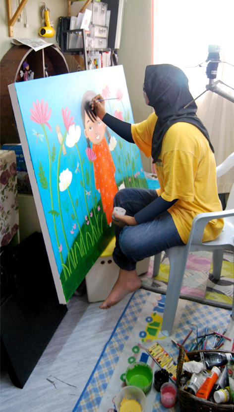 Me painting away
