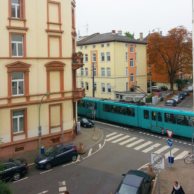 View outside my room. It's off city center but train station is near.