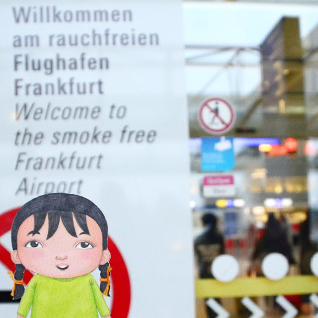 #DinaBudakComel upon arriving at Frankfurt Airport. It was a great experience #flyinghigh with MAS!