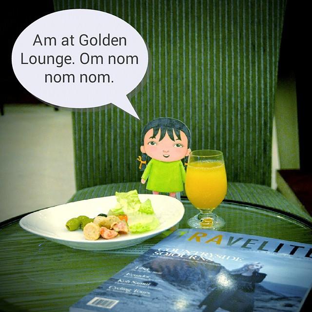#DinaBudakComel at Golden Lounge.  #flyinghigh