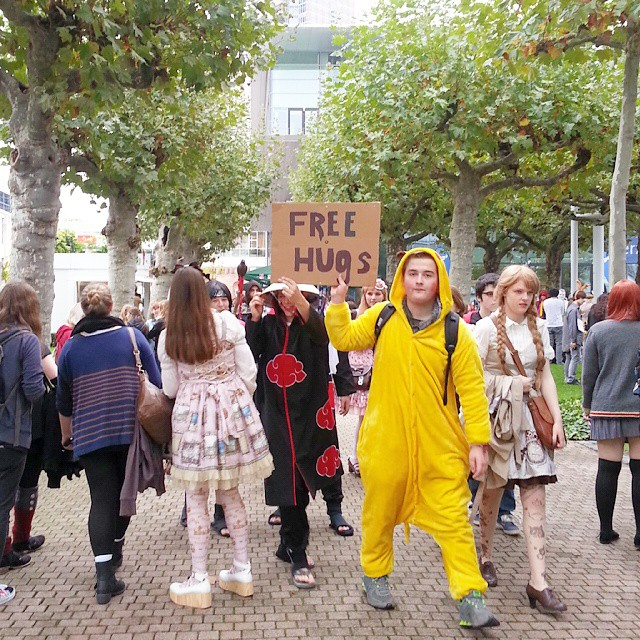 Free hugs at Frankfurt Buchmesse!