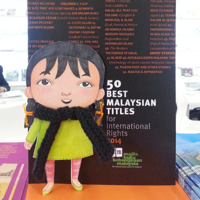 #DinaBudakComel posing with 50 Best Malaysian Titles 2014 booklet.