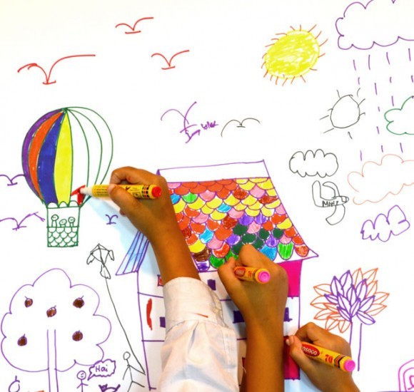 Kids colouring doodles