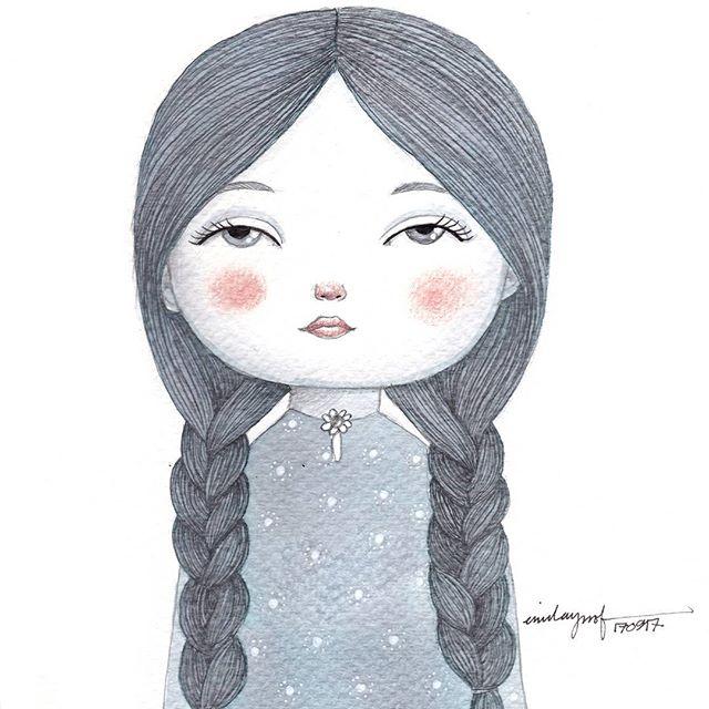 Mini-painting series: Braid Girl 2.