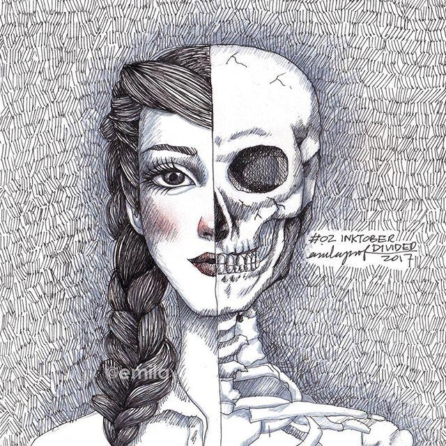 #Inktober 02: Divided. #inktobermalaysia #inktober2017 #sketchbook #drawing #sketch