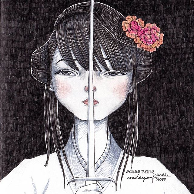 #Inktober: 06 Sword. #inktobermalaysia #inktober2017 #sketchbook #drawing