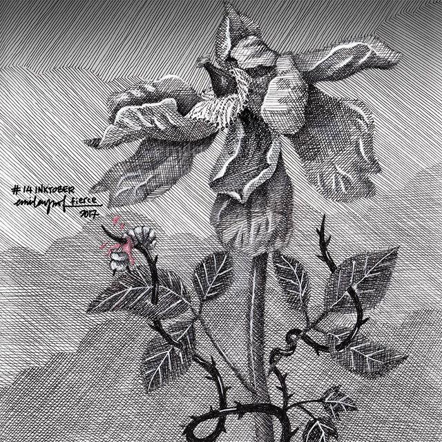 #Inktober: 14 Fierce. #inktobermalaysia #inktober2017 #sketchbook #drawing
