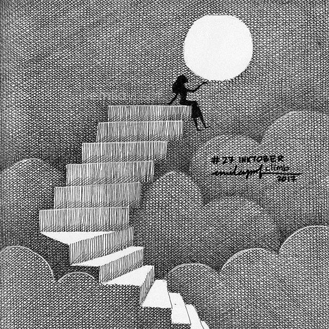 #Inktober: 27 Climb. #inktober2017
